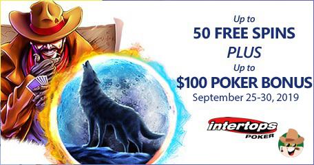 Extra Spins and Poker Bonus Week Starts at Intertops