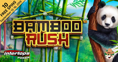 Grab 10 Extra Spins from Intertops Poker to Check out Bamboo Rush from Betsoft
