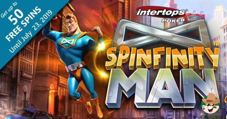 Betsoft's Spinfinity Man Launched at Intertops Poker Along With a Batch of Extra Spins