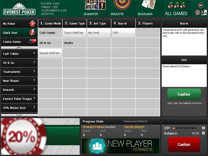 Everest Poker Lobby