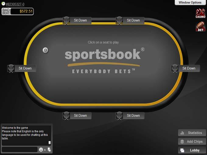 Sportsbook Poker Table