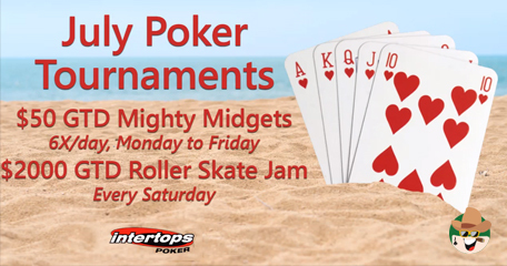 Summer is Heating up With Two New Poker Tournament Series & $2000 Betsoft Slots Tournament at Intertops Poker