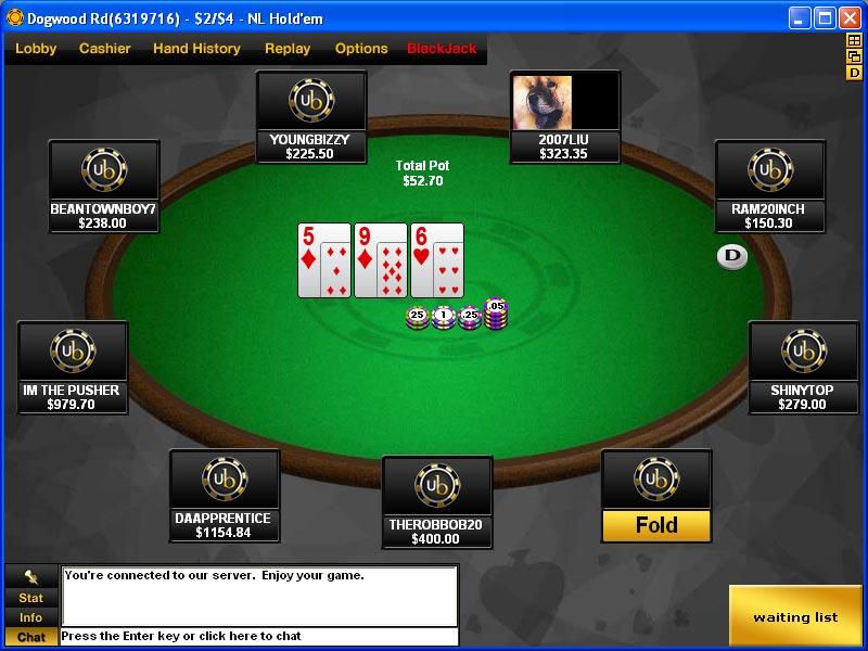 UltimateBet Table