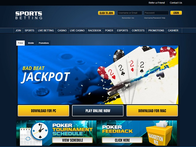 Sportsbetting Poker Home Page