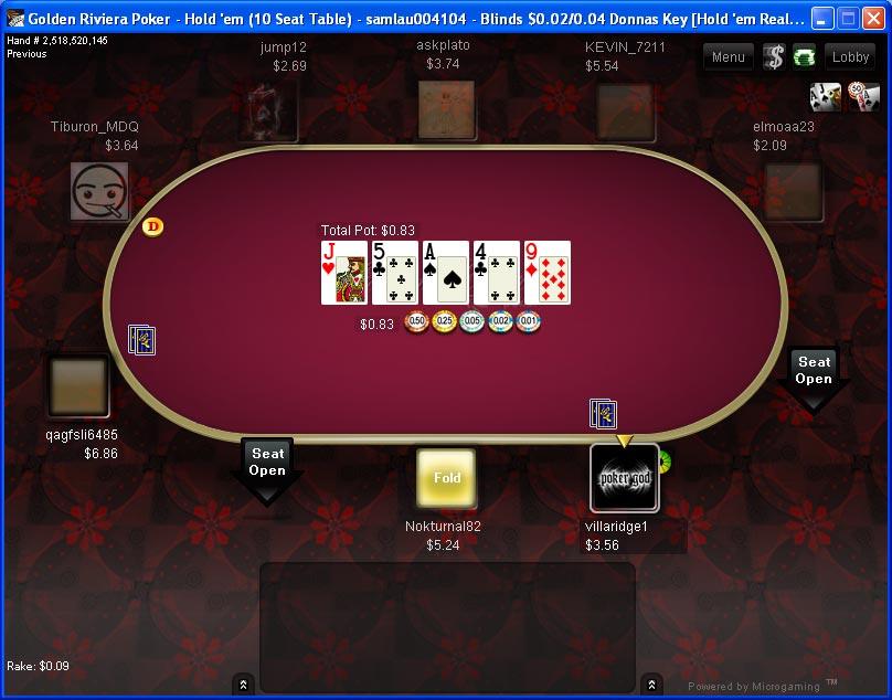 Golden Riviera Poker Table