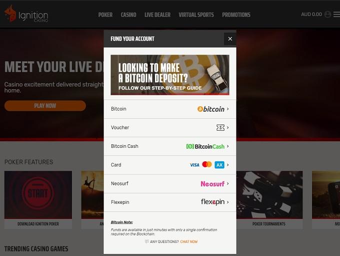 Ignition Poker Bank