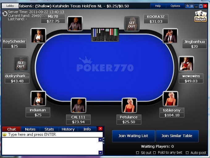 Poker770 Table