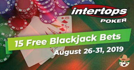 Intertops Poker Hands Out 15 Free Blackjack Bets Until August 31st