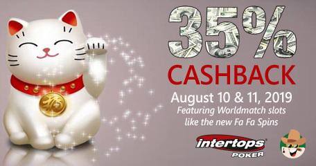 Worldmatch Slots Galore This Cashback Weekend at Intertops Poker