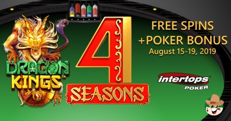 Don't Miss Out on Weekend of Extra Spins and Poker Bonuses at Intertops Poker